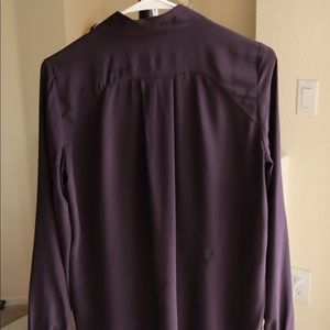 & Other Stories Tops - Other Stories 100% Silk Purple Straight Fit Shirt